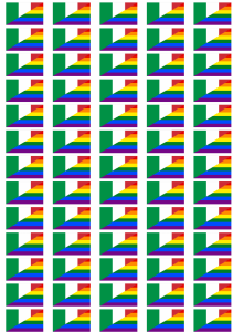 Italy Gay Pride Flag Stickers - 65 per sheet